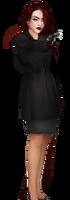 Character Faye with Gun