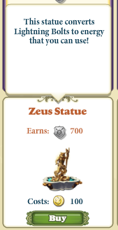 Marketplace Zeus Statue-info