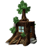 Marketplace Tree Stump House-icon