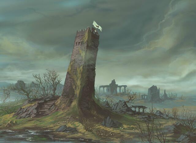 Archivo:The Drunkards Tower by Dimitri Bielak, Fantasy Flight Games©.jpg