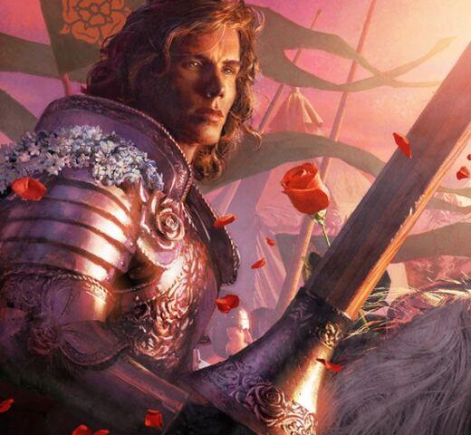 Archivo:Loras Tyrell by Michael Komarck, Fantasy Flight Games©.jpg