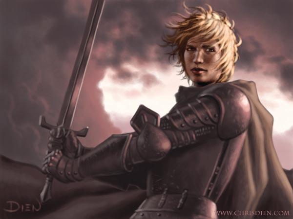 Archivo:Brienne by Chris Dien, Fantasy Flight Games©.jpg
