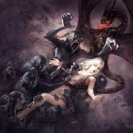 Daenerys atacada por los eternos by Marc Simonetti ©