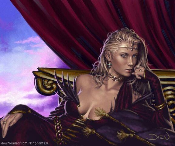 Archivo:Cersei Lannister by Chris Dien, Fantasy Flight Games©.jpg