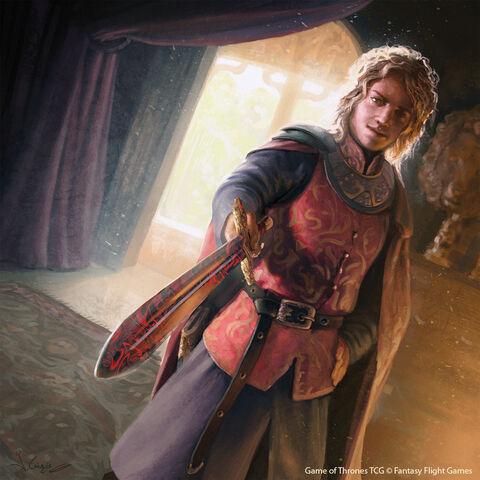 Archivo:Joffrey Baratheon by Joshua Cairós, Fantasy Flight Games©.jpg