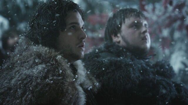 Archivo:Jon y Sam juramento HBO.jpg