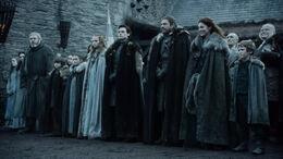 Familia Stark ante el rey HBO