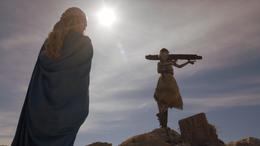 Daenerys y niño hacia Meereen HBO.png
