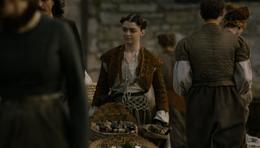 Arya vendiendo marisco HBO