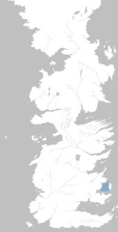 Mapa Estrecho de Tarth