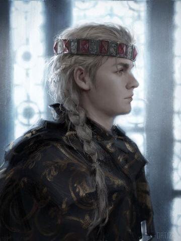 Archivo:King Daeron I, the Young Dragon by Karla Ortiz©.jpg