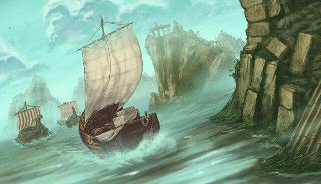 Archivo:Dagger lake by Dimitri Bielak, Fantasy Flight Games©.jpg