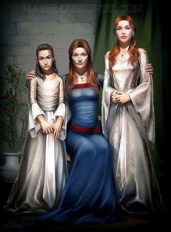 Archivo:Catelyn, Sansa y Arya by Mathia Arkoniel©.jpg