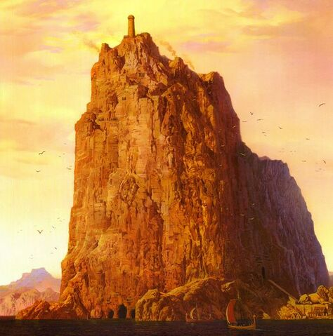 Archivo:Casterly Rock by Ted Nasmith©.jpeg