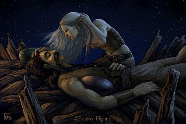 Archivo:Drogo's Pyre by Felicia Cano©.jpg