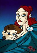 Lysa Tully y Robert Arryn by The Mico©