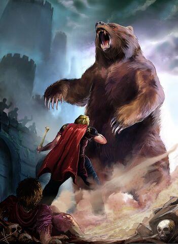 Archivo:Jaime y Brienne The Bear of Harrenhal by Evolvana©.jpg