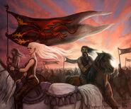 Queen Daenerys' Horde by Felicia Cano, Fantasy Flight Games©