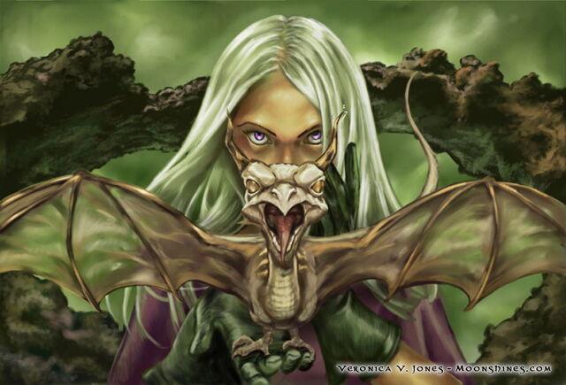 Archivo:To Be a Dragon by Veronica Jones, Fantasy Flight Games©.jpg