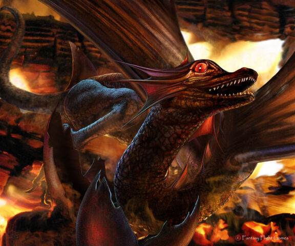 Archivo:Drogon by Tiziano Baracchi, Fantasy Flight Games©.jpg