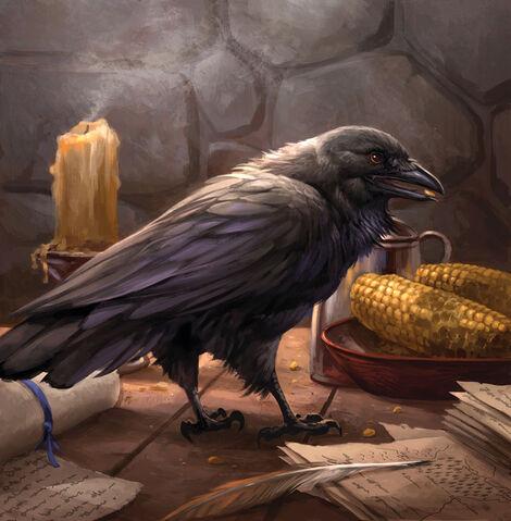 Archivo:Old Bear's Raven by Sandara, Fantasy Flight Games©.jpg