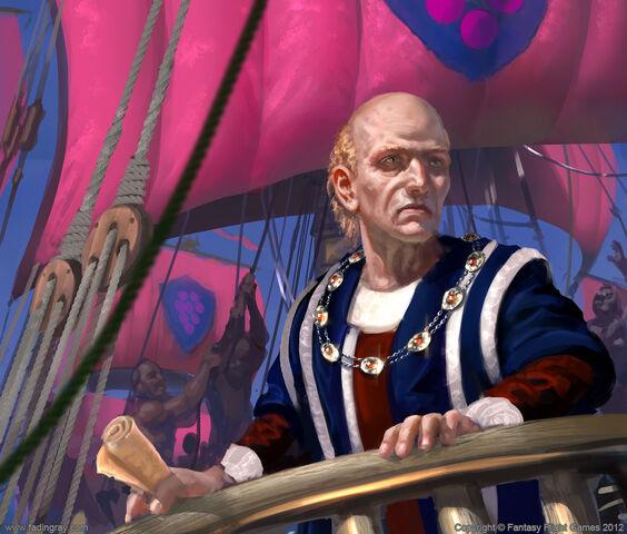 Archivo:Paxter Redwyne by Lukasz Jaskolski, Fantasy Flight Games©.jpg