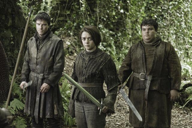 Archivo:Gendry Pastel Arya HBO.jpg