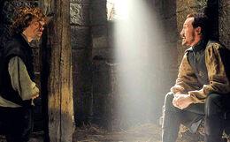 Bronn y Tyrion en la celda HBO