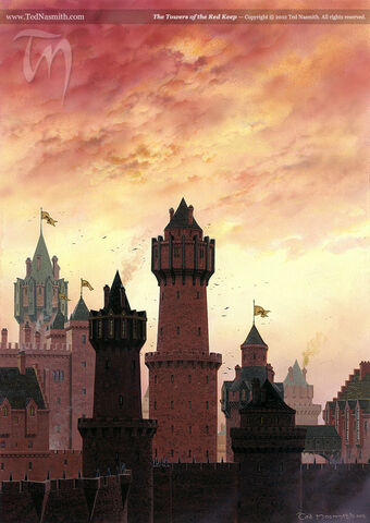 Archivo:The Towers of the Red Keep by Ted Nasmith©.jpg