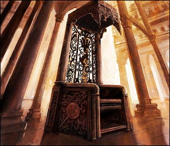 Archivo:The throne of Dorne by Marc Simonetti©.jpg