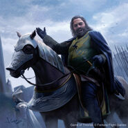 Robert Baratheon comes to Winterfell by Joshua Cairós, Fantasy Flight Games©