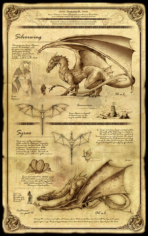 Archivo:Dragonkin Part II - Silverwing and Syrax by Félix Sotomayor©.jpg