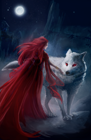 Archivo:Melisandre and Ghost by Eva Maria Toker©.png