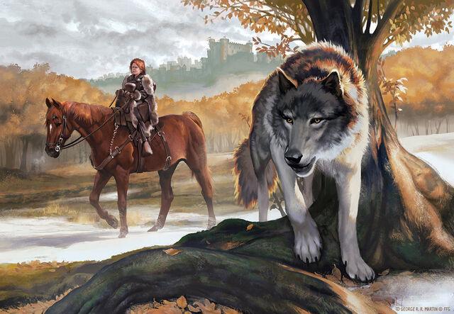 Archivo:Bran Stark and Summer by Amélie Hutt, Fantasy Flight Games©.jpg