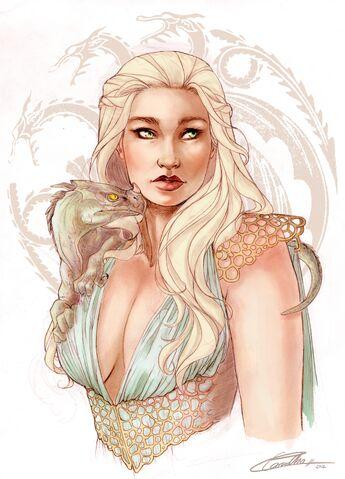 Archivo:Daenerys Targaryen by Lorena Carvalho.jpg