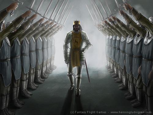 Archivo:King's honor guard by Henning Ludvigsen, Fantasy Flight Games©.jpg