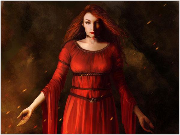 Archivo:Melisandre of Asshai by Katherine Dinger, Fantasy Flight Games©.jpg
