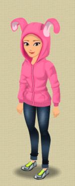 FEMALE OUTFIT (HARE HOODIE)