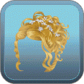 CURLY UP-DO SILVER FLORAL PINS (BLONDE)