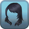 WINDSWEPT SIDE-BANGS (BLACK)