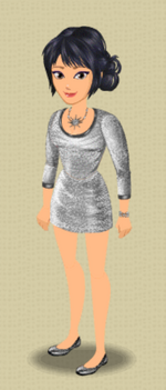 FEMALE OUTFIT (SLINKY IN SILVER)