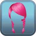 BRAIDED LOW PIGTAILS (PINK)