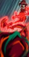 Rias Firing Off a Blast of Power of Destruction at Kuroka