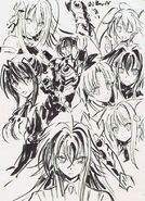 Animator Sketch - Issei and Heroines