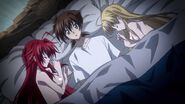 Issei in bed with Rias and Asia