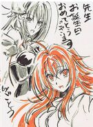 Rias and Rossweisse - Animator Sketch