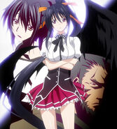 Akeno with her parents, Shuri and Baraqiel in S3OP