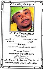 MC Breed funeral
