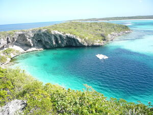 Blue Hole Dean Long Island Bahamas 20110210