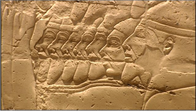 File:Israelites & Judeans captives Shoshenq 1st campaign to Canaan (926-5 BCE).png